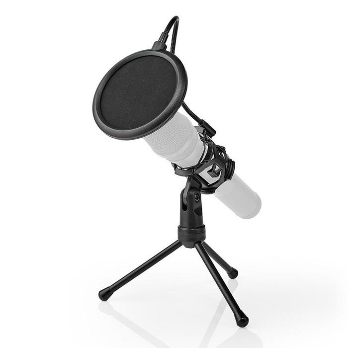 NEDIS MPST00BK Microphone Table Tripod Pop Filter Black