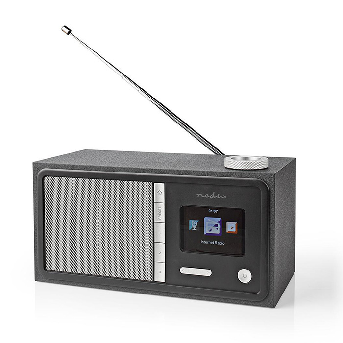 NEDIS RDIN3000BK Internet Radio 18 W FM Bluetooth Remote Control Black