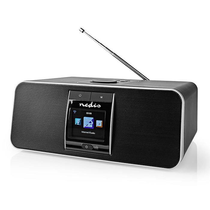 NEDIS RDIN5005BK Internet Radio 42 W DAB+ FM Bluetooth Remote Control Black/Silv