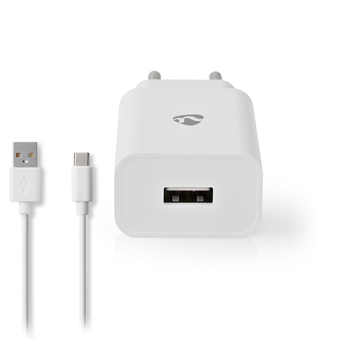 NEDIS WCHAC242AWT Wall Charger 1x 2.4A Port type: 1x USB-A USB Type-C (Loose) Ca