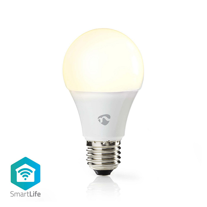 NEDIS WIFILW12WTE27 SmartLife LED Bulb Wi-Fi E27 800lm 9W Warm White 2700K Energ