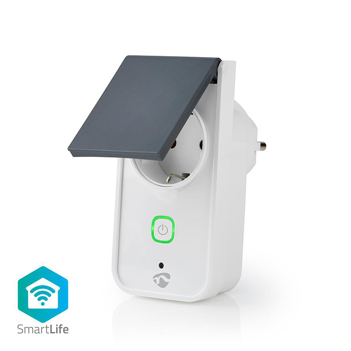 NEDIS WIFIPO120FWT SmartLife Smart Plug Wi-Fi IP44 Power meter 3680W Android & i