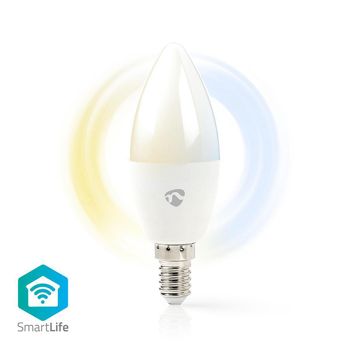 NEDIS WIFILW13WTE14 SmartLife LED Bulb Wi-Fi E14 350lm 4.5W Cool White/Warm Whit