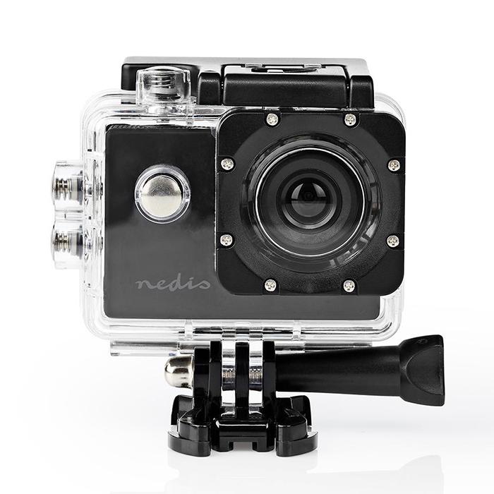 NEDIS ACAM04BK Action Cam 20p@30fps 5MPixel Waterproof up to: 30.0m 90min Mounts