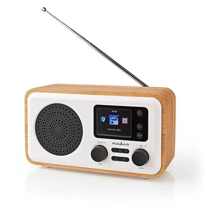 NEDIS RDIN2000WT Internet Radio Table Design Bluetooth/Wi-Fi DAB+/FM/Internet 2.