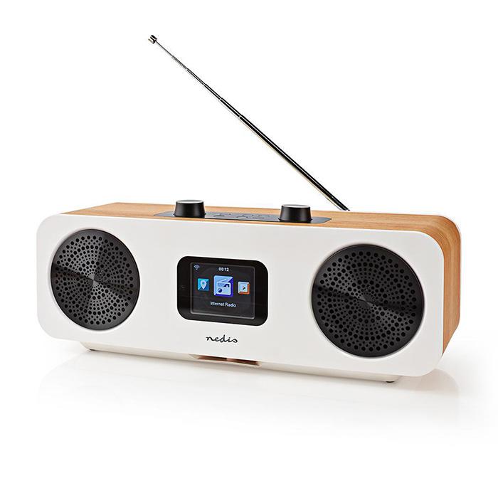 NEDIS RDIN2500WT Internet Radio Table Design Bluetooth/Wi-Fi DAB+/FM/Internet 2.