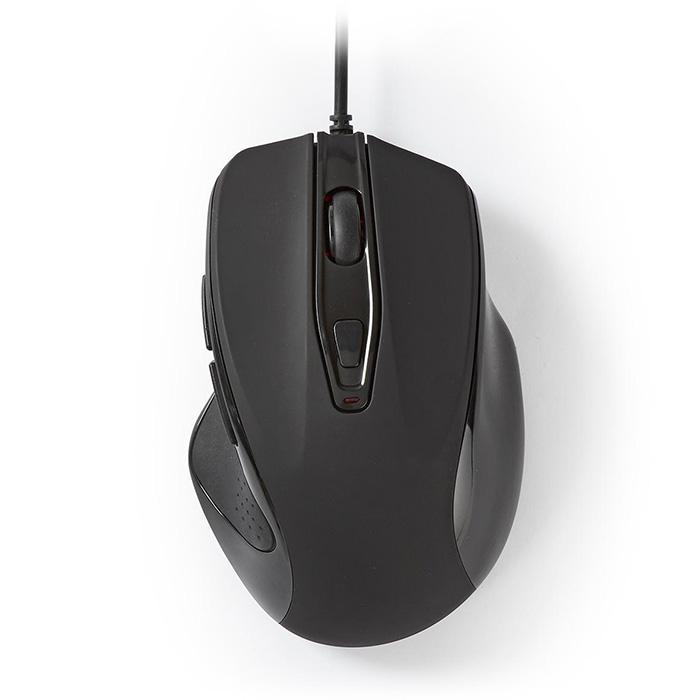 NEDIS MSWD400BK Nedis Wired Mouse 800 / 1200 / 2400 / 3200 DPI 6-Button Black