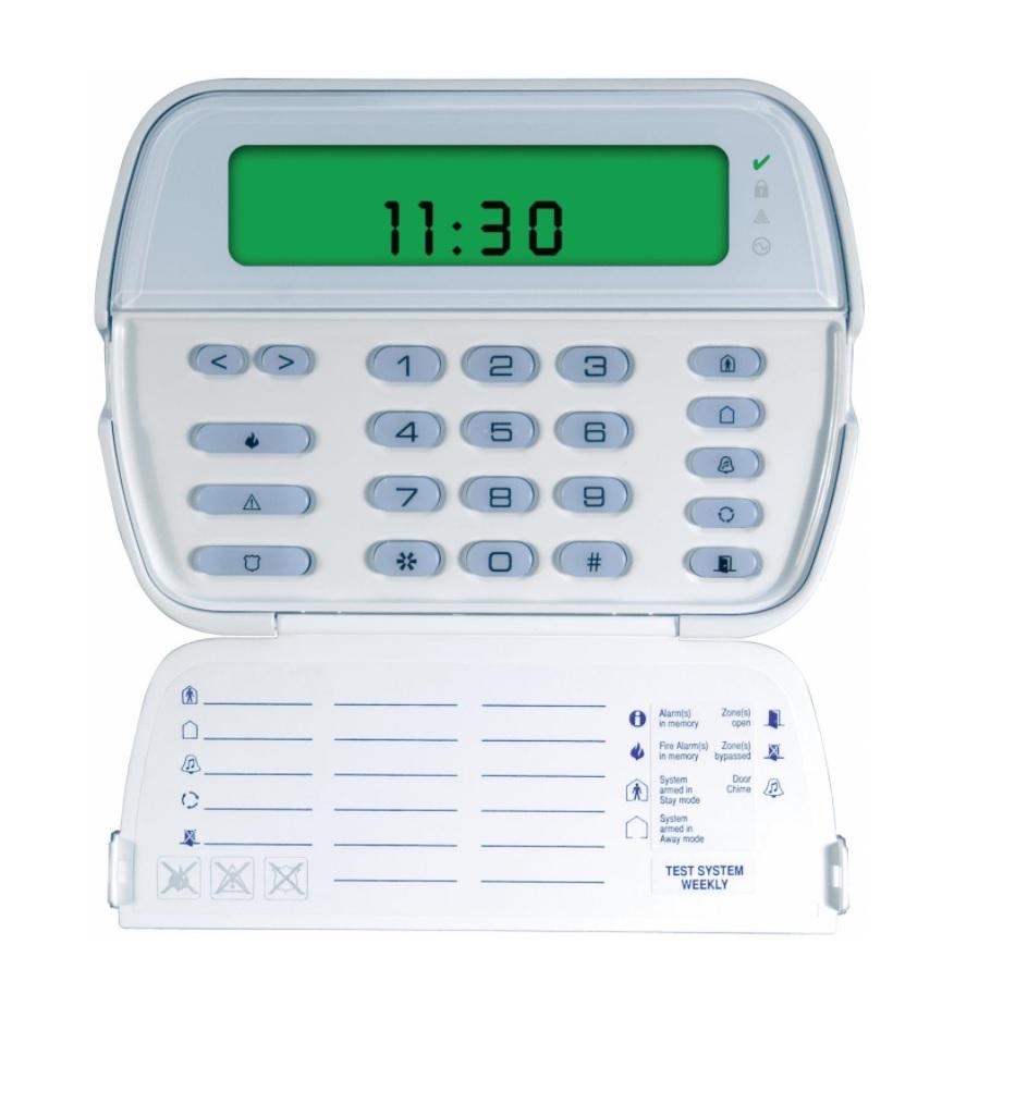 DSC POWERSERIES RFK5501E1 Ενσύρματο Πληκτρολόγιο LCD ICON 64 Ζωνών με Δέκτη RF