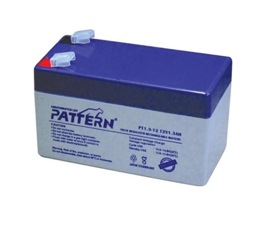PATTERN PT1.3-12 Επαναφορτιζόμενη Μπαταρία Μολύβδου 12 Volt /1.3 Ah Japan Technology