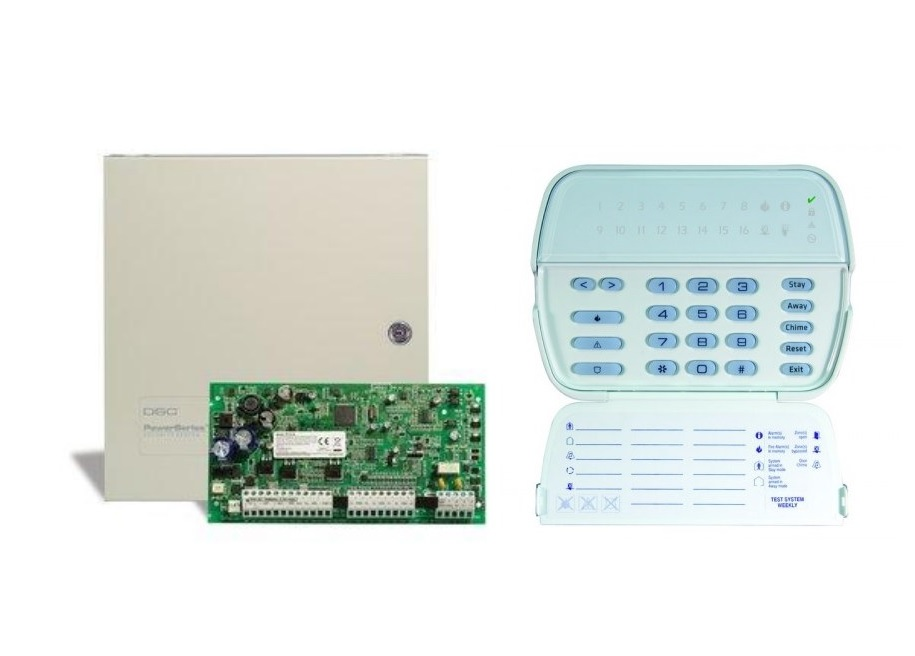 DSC POWERSERIES PC1616E13H ΚΙΤ Συναγερμού 6/16 Ζωνών με Μεταλλικό Κουτί και Πληκτρολόγιο PK5516E1