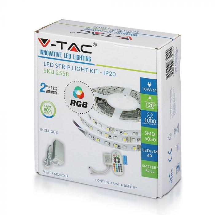 V-TAC Ταινία LED Σετ με Τηλεχειριστήριο RGB 5m