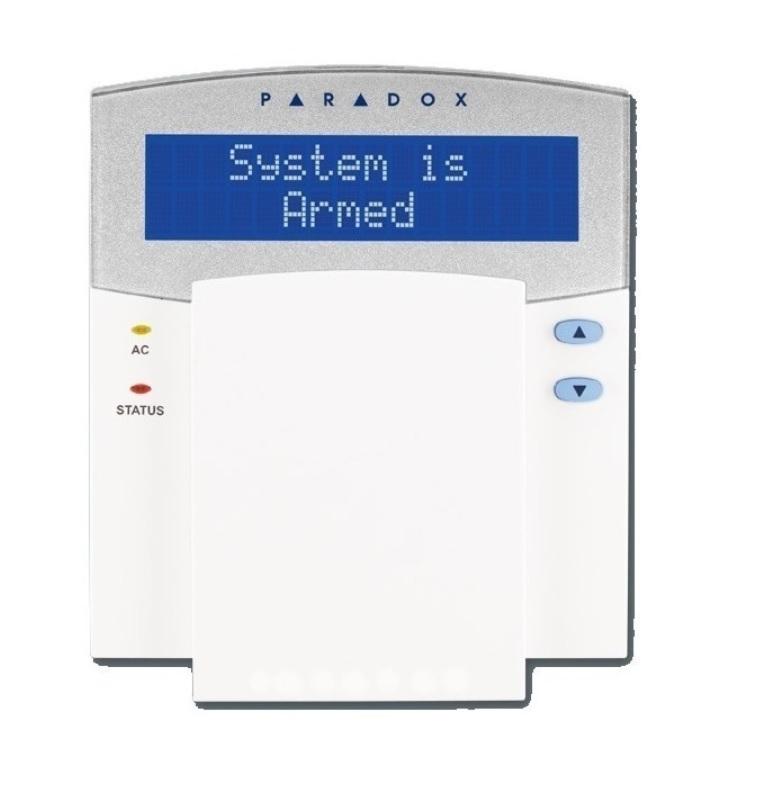 Paradox K641R GR Πληκτρολόγιο 32 Χαρακτήρων με μπλε LCD & Ενσωματωμένο Καρταναγνώστη