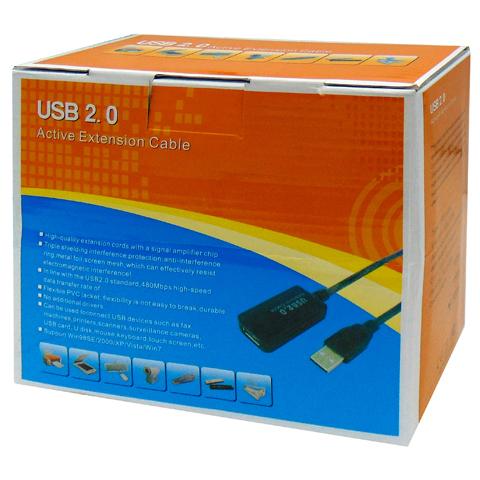 ΚΑΛΩΔΙΟ USB 2.0 A/M A/F ΠΡΟΕΚ.+ΕΝΙΣΧ.15m BOX OWI
