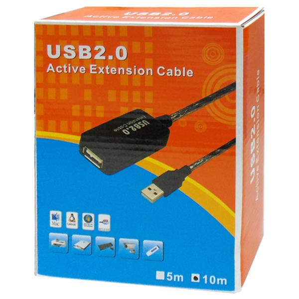 ΚΑΛΩΔΙΟ USB 2.0 A/M A/F ΠΡΟΕΚ.+ΕΝΙΣΧ.10m BOX A1902-011 OWI