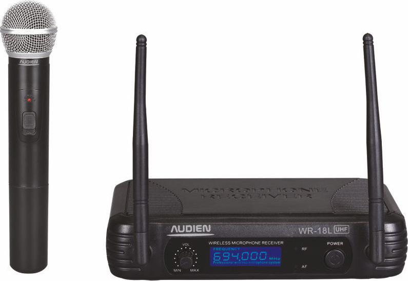 Audien WR-18L-A Ασύρματο Δυναμικό Μικρόφωνο Χειρός UHF