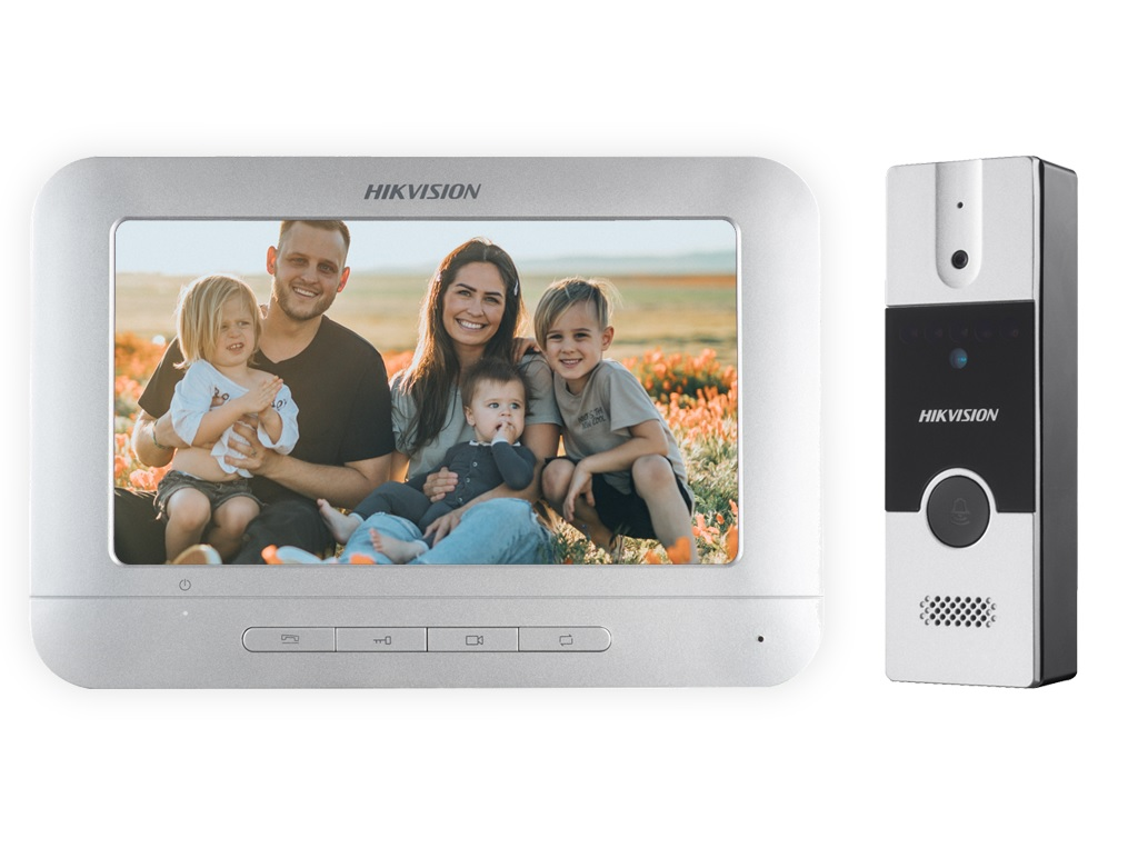 Hikvision DS-KIS202 Έγχρωμο Κιτ Θυροτηλεόρασης 4 Καλωδίων