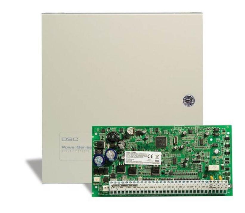 DSC POWERSERIES PC1864NKEH Υβριδικός Πίνακας Συναγερμού 8 έως 64 ζωνών Με Μεταλλικό Κουτί