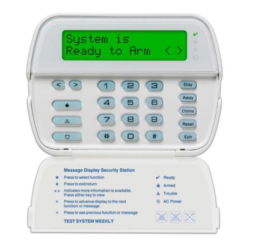 DSC POWERSERIES RFK5500E1 H2 Ενσύρματο Πληκτρολόγιο 64 Ζωνών με Οθόνη LCD και Δέκτη RF