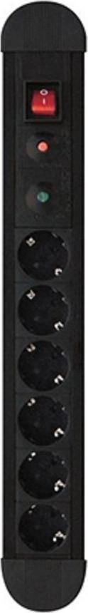 Power On SPU-06K (BLACK) Πολύπριζο Ασφαλείας 6 Θέσεων