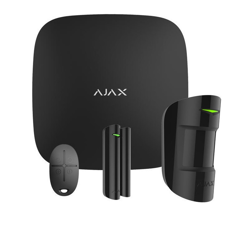 Ajax Starter Kit Black Ασύρματο Σύστημα Συναγερμού