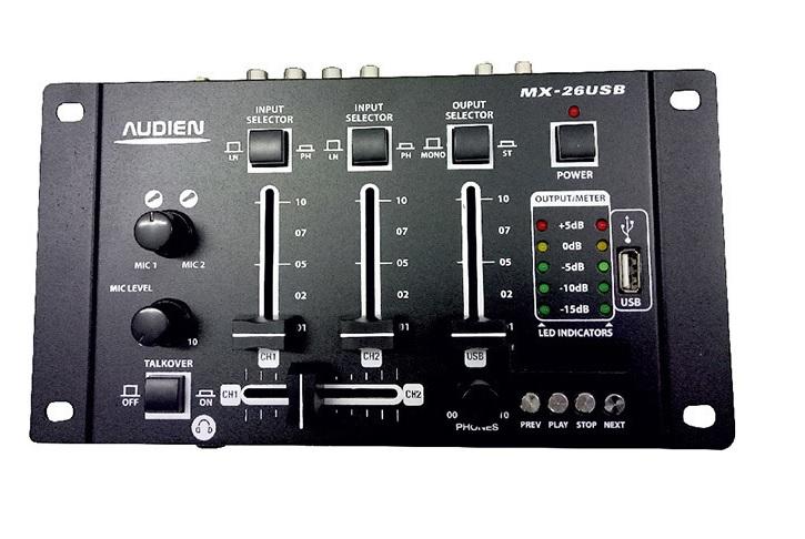 Audien MX-26USB Μίκτης ήχου 3 Καναλιών με USB player