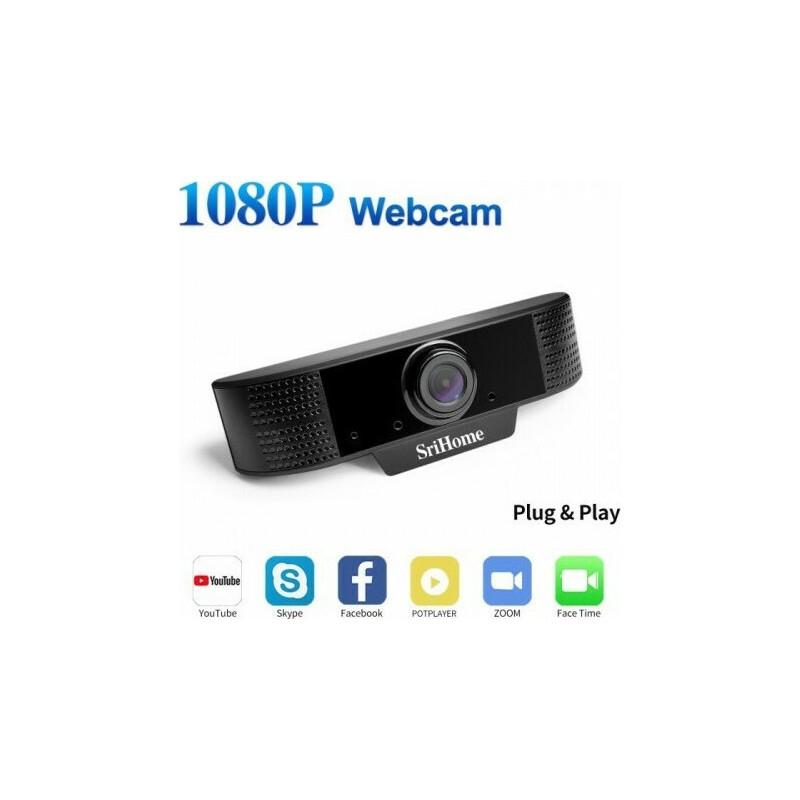 Conceptum Srihome SH001 2MP 1080P Webcamera με Διπλό Μικρόφωνο USB