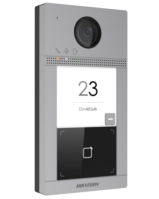 Hikvision DS-KV8113-WME1 Δικτυακή (IP) Μπουτονιέρα Εισόδου με 1 Μπουτόν Κλήσης