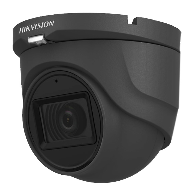 Hikvision DS-2CE76H0T-ITMFS GREY Κάμερα HDTVI 5MP Φακός 2.8mm, Mic - Audio Over Coax