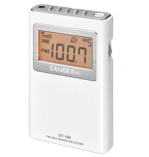 Sangean DT-160 WHITE (Pocket 160) - Φορητό Ραδιόφωνο, Λευκό