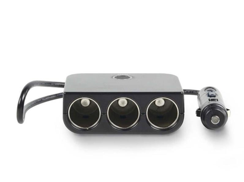 NEDIS DCPA001 Universal Αντάπτορας Αυτοκινήτου 3 εξόδους 12V και 1 USB 5V