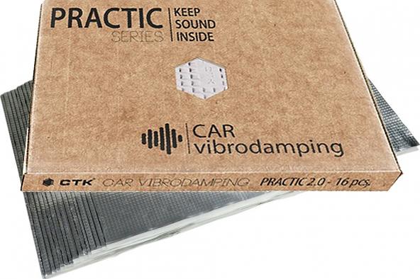 Ctk Practic Bundle Ηχομονωτικά Φύλλα Απόσβεσης Κραδασμών Αυτοκινήτου 16 Τεμάχια (Σετ)