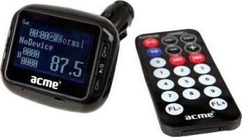 Acme, F-200 FM, Transmitter αυτοκινήτου MP3/WMA player με Θύρα USB, υποδοχή SD card, Line-in & τηλεχειριστήριο.