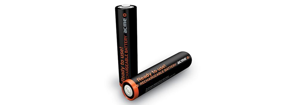 Acme, R03, AAA 900mAh επαναφοριζόμενες μπαταρίες