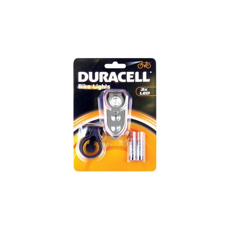 Duracell, BIK-F02WDU 00913, Φακός Led Ποδηλάτου για το μπροστινό μέρος με 3 LED