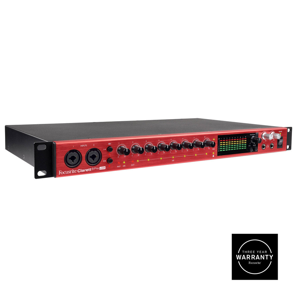 FOCUSRITE CLARETT 8 PRE USB AUDIO MIDI INTERFACE