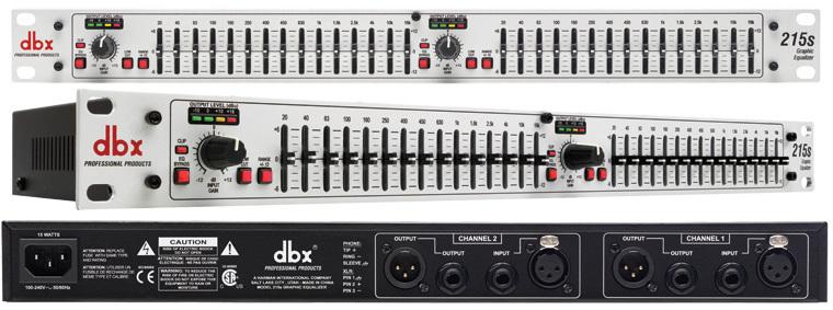 DBX, 215S, Γραφικό equalizer 2x15 περιοχών