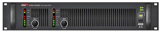 INTER-M DPA-600D ΤΕΛΙΚΟΣ ΕΝΙΣΧΥΤΗΣ 2Χ600W/100V PRIORITY IN