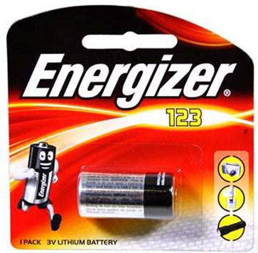 Energizer, CR123, Μπαταρία λιθίου 3V