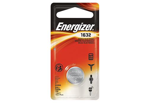 Energizer, CR1632, Μπαταρία Λιθίου, 3V