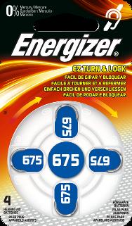 Energizer, 675, Μπαταρία Βαρηκοΐας 4 τεμ.