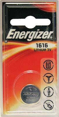 Energizer, CR1616, Μπαταρία Λιθίου 3V
