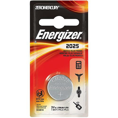 Energizer, CR2025, Μπαταρία λιθίου 3V