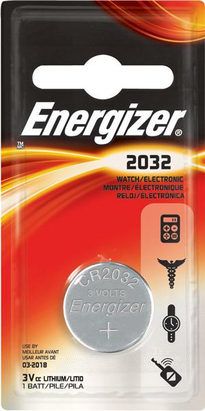 Energizer, CR2032, Μπαταρία λιθίου 3V