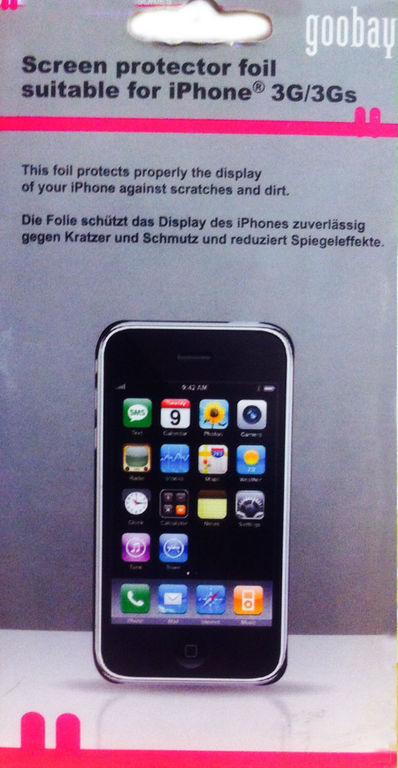Goobay, 42670, Προστασία οθόνης για iPhone 3G/3GS
