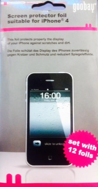 Goobay, 42881, Προστασία οθόνης για iPhone 4, (12 φίλμ)