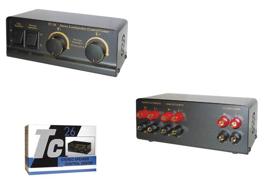 HQ SP SWITCH-1 / TC26 Συσκευή για σύνδεση 2 σετ ηχείων σε 1 ενισχυτή με volume control