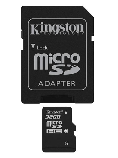 Kingston, SDC10G2/32GB, , Class 10, U1 με Αντάπτορα (45MB/s)