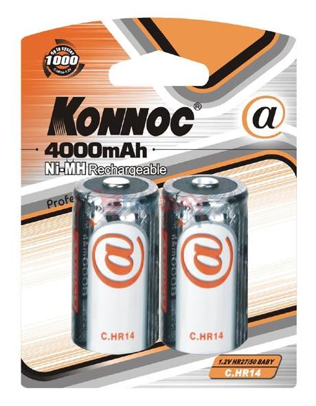 Konnoc, C.HR14, NIMH-4000mA. Επαναφορτιζόμενες μπαταρίες