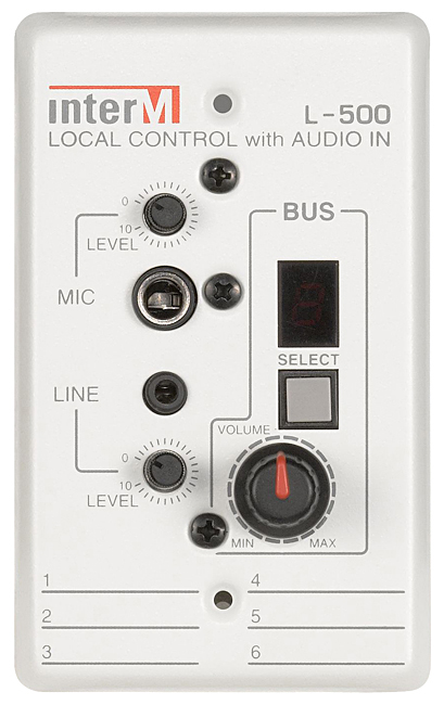 INTER-M L-500 LOCAL CONTROL WITH AUDIO IN