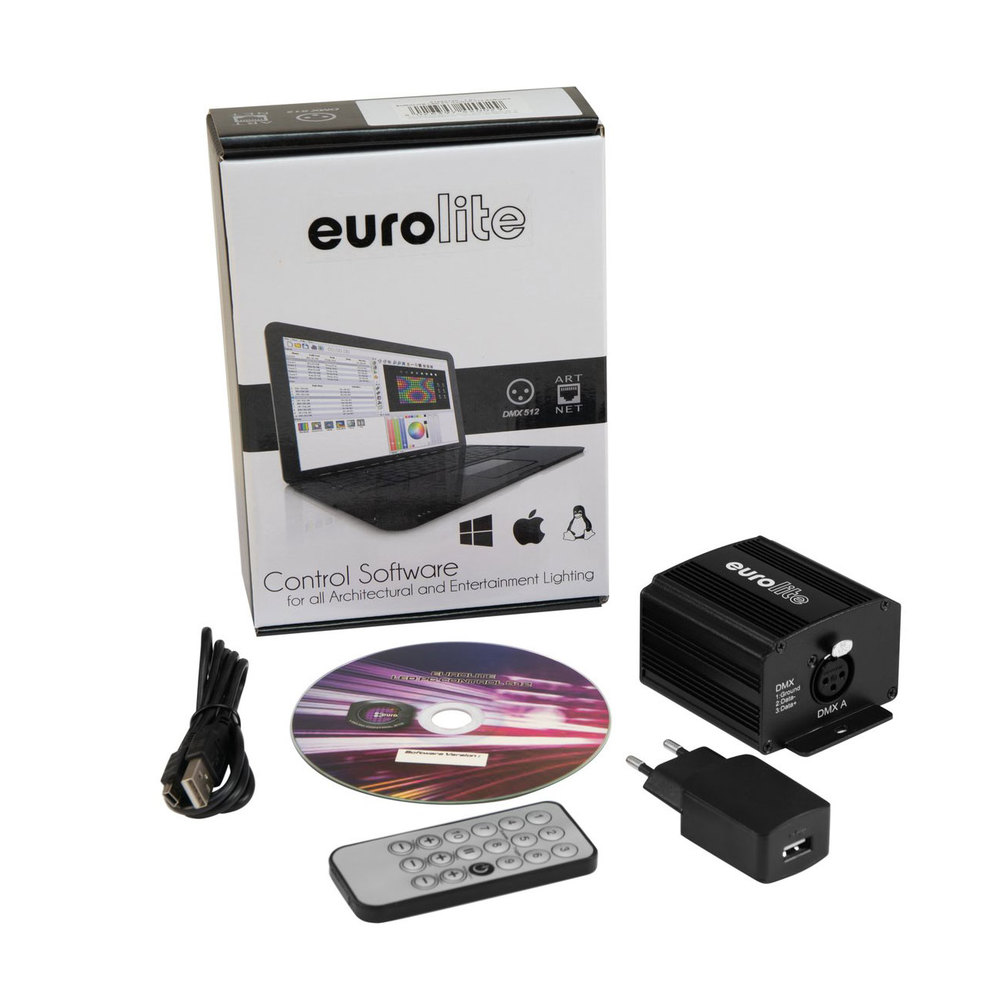 EUROLITE LED-PC-CONTROL 512 DMX SOFTWARE WITH INTERFACE